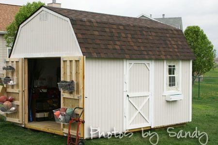 Shed organizing cabins cottages sheds tiny homes for Garden shed organisation