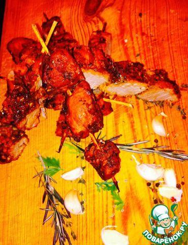 Свиная вырезка в маринаде ингредиенты