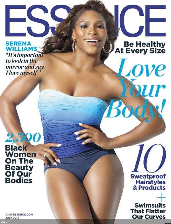 World's number one female #Tennis player, Serena Williams shows her bold side in a blue one-piece swimsuit on the cover of Essence magazine for its July issue.
