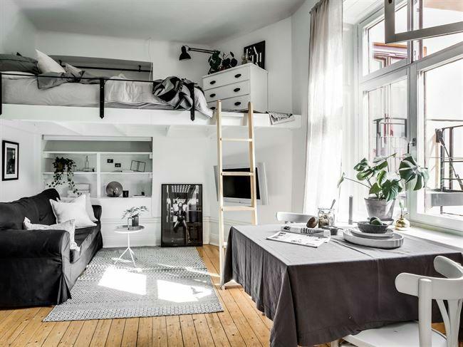 Ce Petit Studio Scandinave A Tout D Un Grand Studio Loft Design