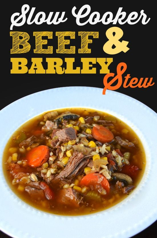 Slow Cooker Beef and Barley Soup recipe (leftover pot roast) | Queen Bee Coupons