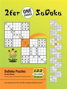 Are you hooked on SuDoku-a true SuDokuholic, looking for a challenge? Each challenging puzzle contains a single 'One Choice' number-can you spot it?    Though there are other methods to solve SuDoku puzzles you're stuck on, practice in spotting 'One Choice' numbers will often give you what you need to continue.: Sudoku A True, Numbers Cans, Sudoku Puzzles, Puzzles You R, True Sudokuhol, Challenges Puzzles, Solving Sudoku, Stuck, Iunivers Bookstores