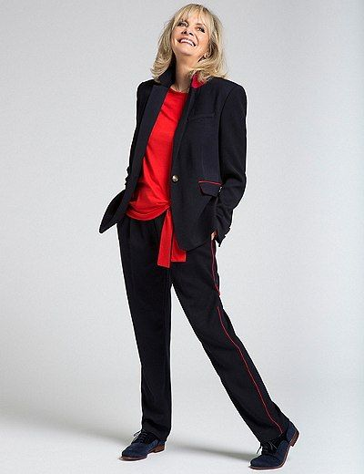 Contrast Piped Blazer & Trousers Set | Marks & Spencer London