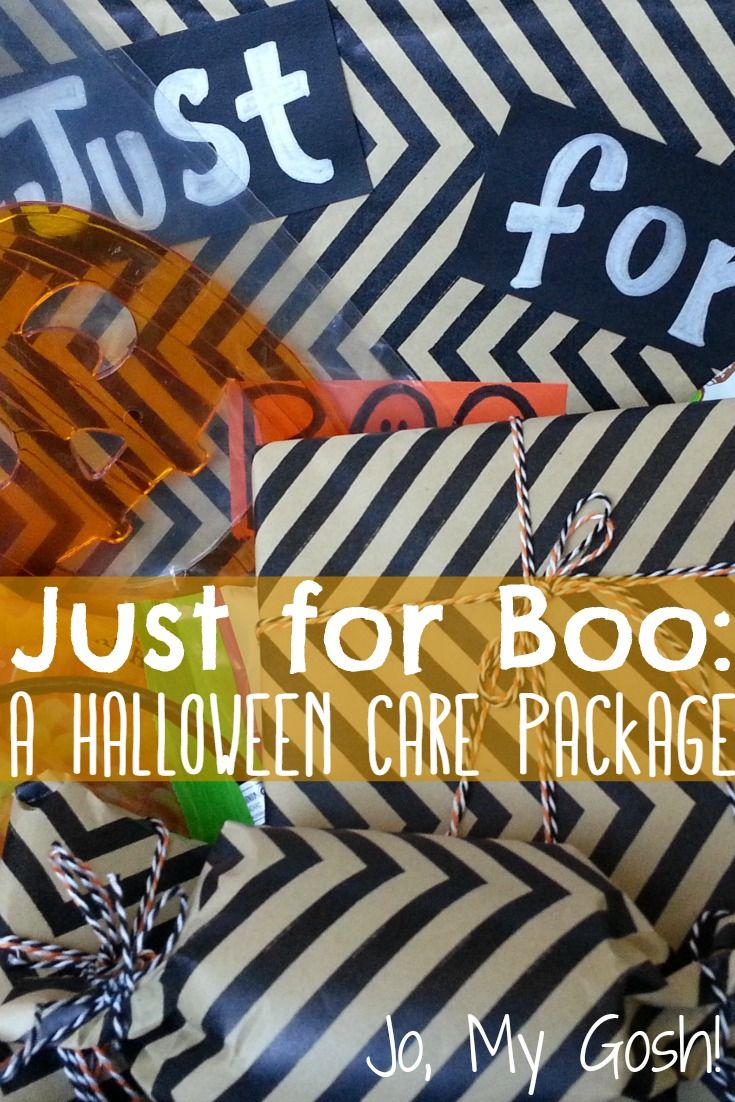 Love this cute take on a Halloween care package--  the chevrons and baker's  twine are a chic touch.