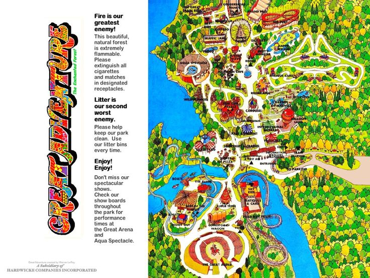 Best Theme Park Maps Images On Pinterest Amusement Park - Map of all us theme parks
