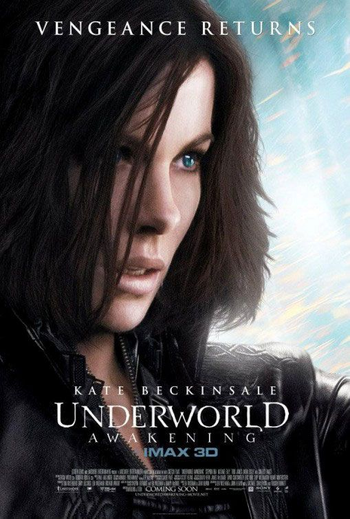 Underworld: Awakening , starring Kate Beckinsale, Michael Ealy, India Eisley, Stephen Rea. When human forces discover the existence of the Vampire and Lycan clans, a war to eradicate both species commences. The vampire warrioress Selene leads the battle against humankind. #Action #Fantasy #Horror