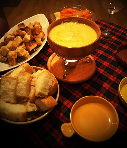 New Years Eve party cheese fondue idea