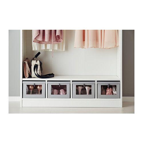 KOMPLEMENT Shelf insert, white white 100x35x19 cm