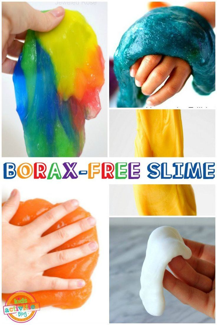 BORAX-FREE SLIME RECIPES - Kids Activities