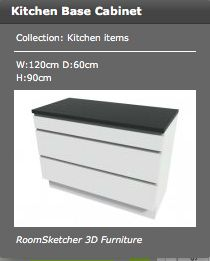 This is a sample of the base cabinets - measurements in picture.