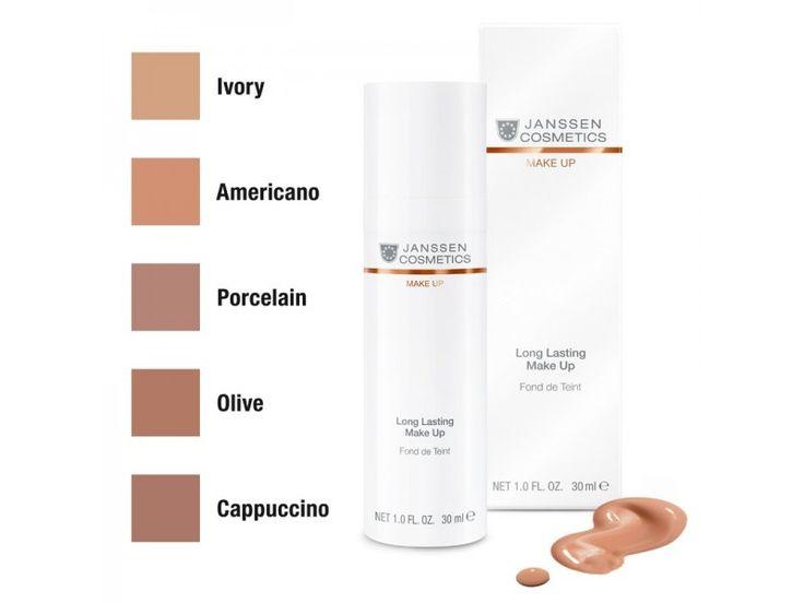 """Janssen Cosmetics Long Lasting Make-Up """"Americano"""" - Янссен Стойкий Тональный Крем с SPF-12 (""""Американо"""") 30мл"""