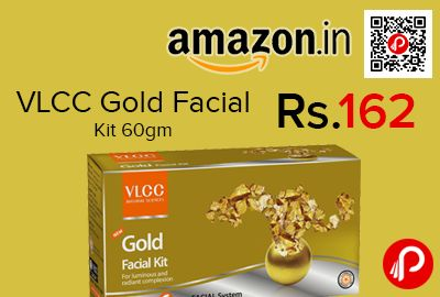Amazon #LightningDeal is offering 35% off on VLCC Gold Facial Kit 60gm at Rs.162 Only. Protects from bacteria, promotes cell renewal and hydrates skin, Anti-ageing benefits, Makes skin soft and supple, Nourish and rejuvenate skin to make it look healthy and glowing.  http://www.paisebachaoindia.com/vlcc-gold-facial-kit-60gm-at-rs-162-only-amazon/