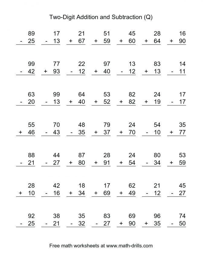 28 Addition Worksheets For Grade 2 2nd Grade Math Worksheets