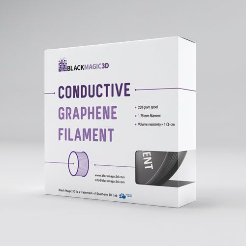 3D printer filament that is conductive - Graphene 3D  from Lab Inc. (june 2015)