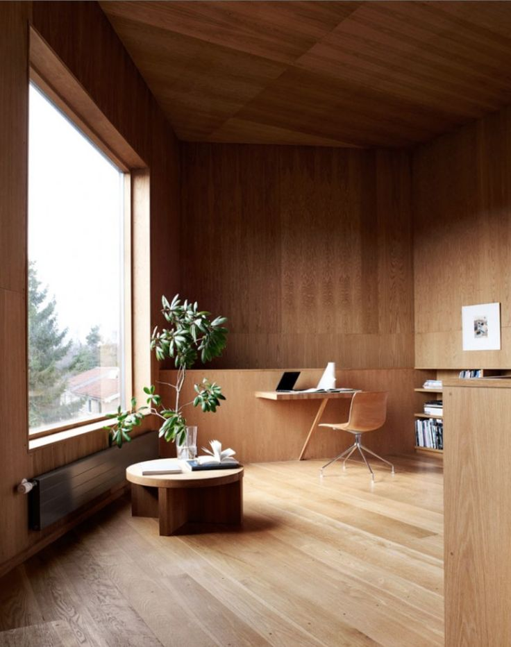 Likes: wood on walls and ceiling