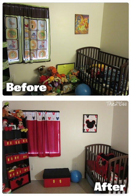 Mickey Mouse Inspired Toddler Room Decoration | kids ...