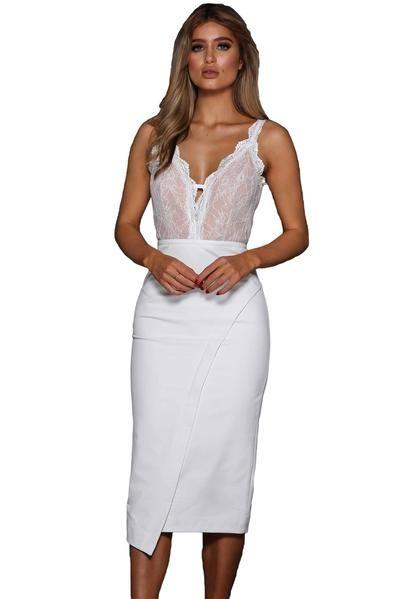 1018cefc637b Trendy Bodycon Designs Black Lace Illusion Her Fashion Sexy Midi Dress  #womensfashion #dresses #party #shopping