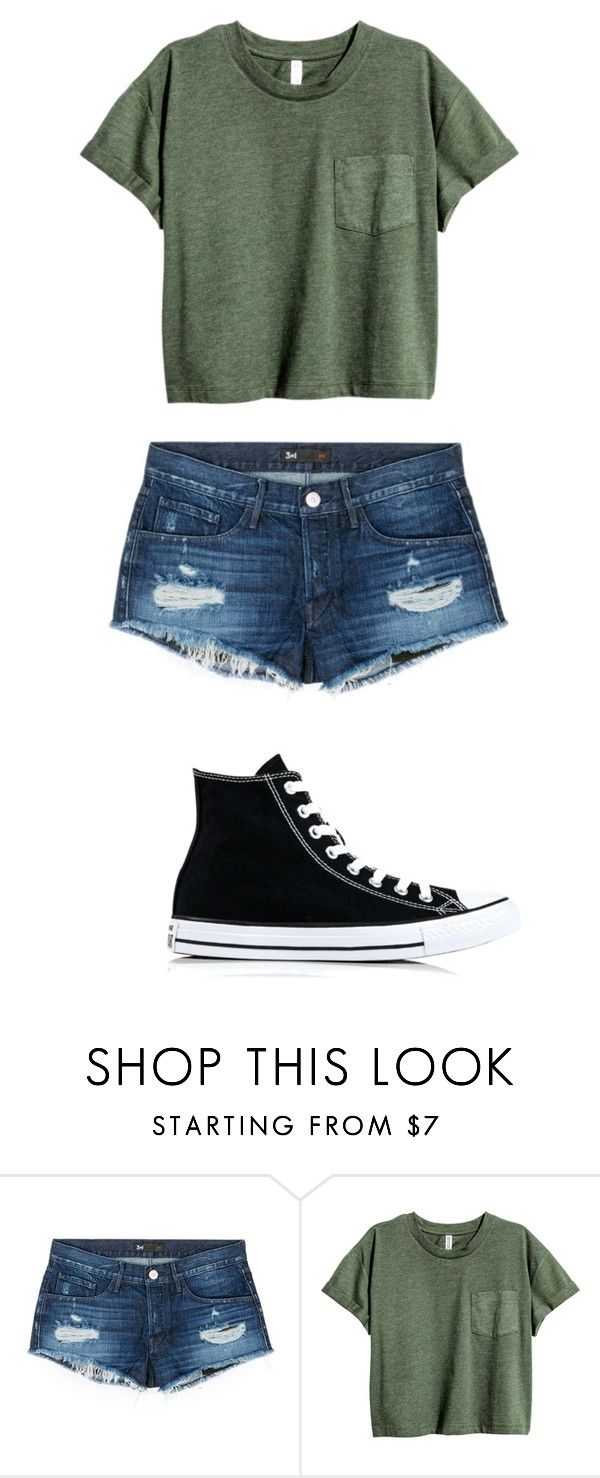 """Super simple outfit ^_^"" by kels-bels-and-life ❤ liked on Polyvore featuring 3x1, Converse, KelseysOutfitOfTheDay, KelseysSchoolSets and KelseyMakesNormalSetsOMG"