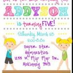 Party: Gymnastics Birthday Party Invitations Which Can Be Used As Extra Chic Party Invitation Design Ideas 211120161