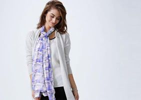 Cashmere Modal Scarf in a beautiful design called 'Windsong Mauve'. It's  perfect for the purple lover...