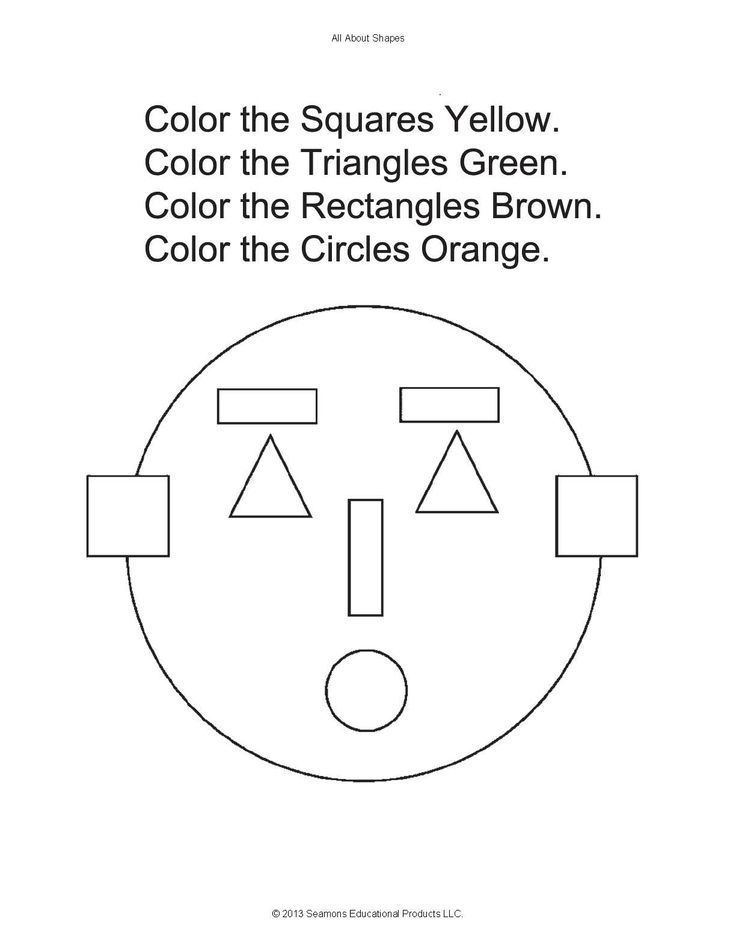 The Shapes Face is fun for children to do. The face is made up of ...