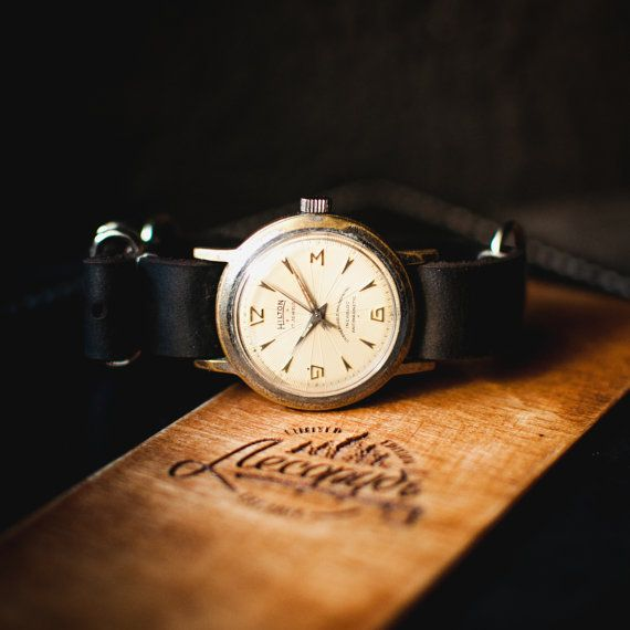 Men's watch Hilton, mechanical unisex watch, white wristwatch, gents watch, retro watch, watch for mens, watch men