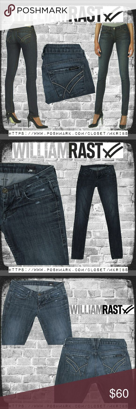 💞 William Rast Jerri Ultra Skinny low rise jeans Perfect with boots or heels, these cute 'Jerri' ultra skinny, low rise jeans are so comfy because they have the perfect amount of stretch.  Jeans modeled in first photo is stock of the exact style but not wash. All photos shown (not on model) were taken by me and of the actual item for sale. The center of 1st photo and 2nd photo most accurately show the wash. Measurements, fabric content, and style codes in last photo. NO TRADES PLEASE…