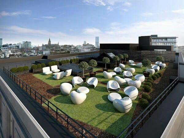 30 Beautiful And Inspiring Rooftop Garden Designs Part 28