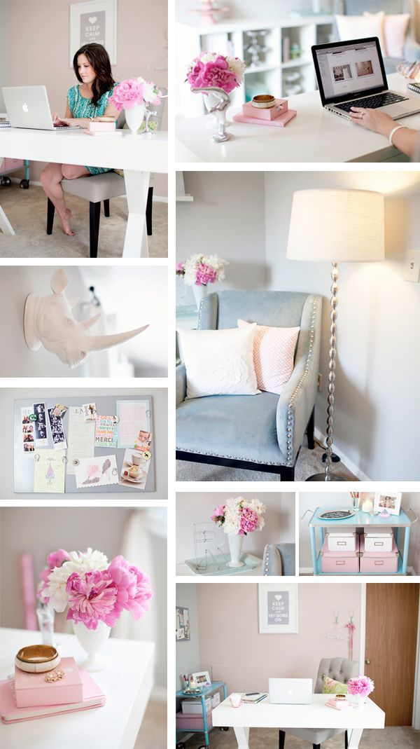 i can work in this office day an night me encanta que linda esta oficina aqu podra trabajar da y noche on girl caves and the necessity of an happy chic workspace home office details ideas