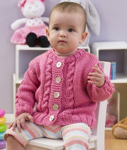 Free Pattern: Seeds of Spring Baby Cardi