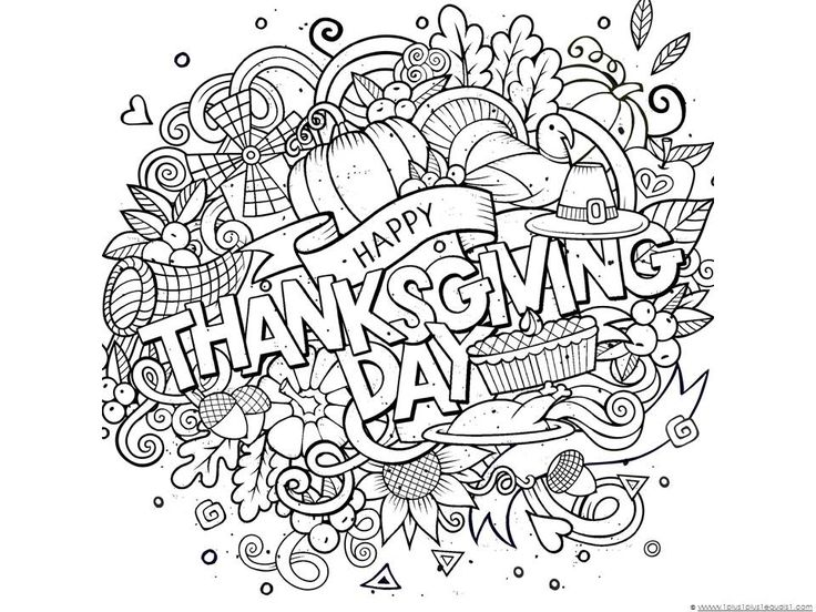 free printable thanksgiving day printable printables for families spending thanksgiving day weekend together free coloring pages for all ages easy - Thanksgiving Pages To Color For Free