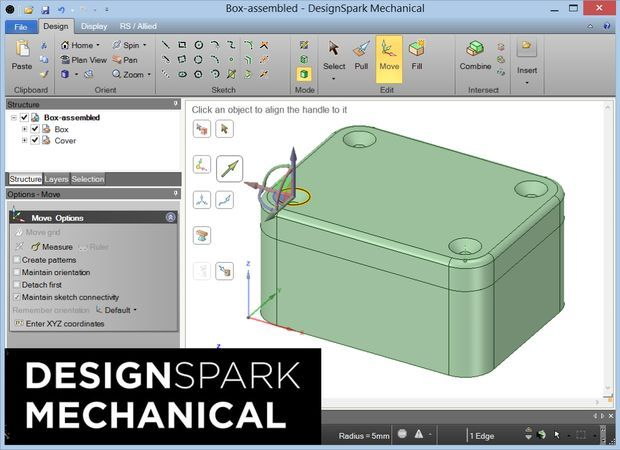 Free 3D CAD modelling using DesignSpark Mechanical