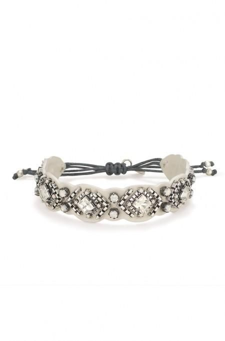 Genuine Leather Chiara Embroidered Bracelet | Stella & Dot