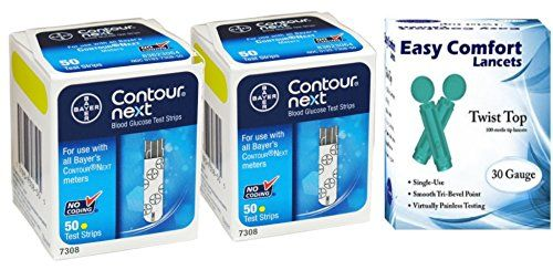 Package Includes: 100 #Bayer Contour NEXT Test Strips, 100 30g Lancets.
