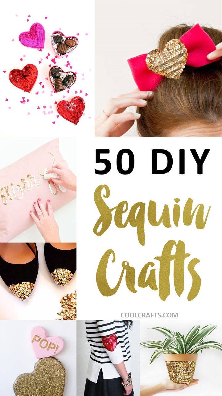 50 Glittery Crafts to Make With Sequins, http://www.coolcrafts.com/sequin-crafts/