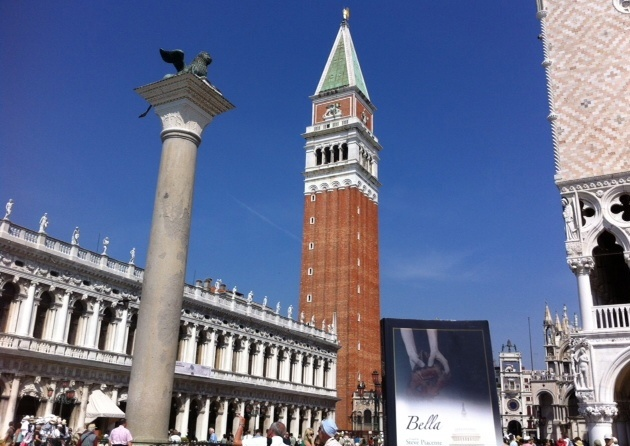 Bella lounging in St. Mark's Square in Venice - thanks to reader Humberto Ruiz.