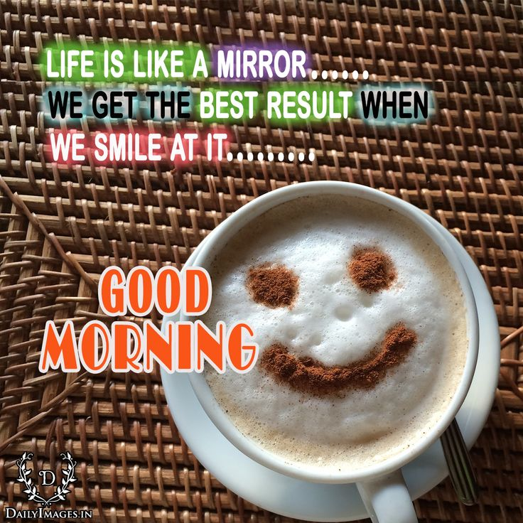 """life is like a mirror… We get the best result when we smile at it…… """"Good morning"""" #goodmorning #gm #quotes"""
