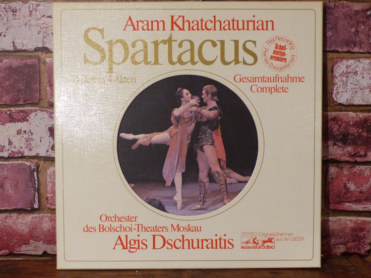 SPARTACUS - Aram Khatchaturian Ballet with Bolshoi Theater Moscow Orchestra, 4 Record LP Boxed Set- MINT by JusFunkinAround on Etsy