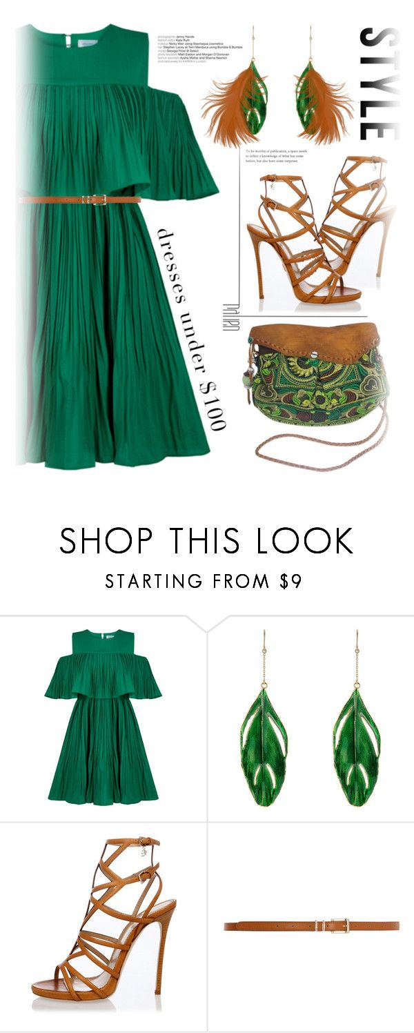 """#under$100#summerdress"" by liligwada ❤ liked on Polyvore featuring Jovonna, Aurélie Bidermann, Dsquared2, Dorothy Perkins and NOVICA"