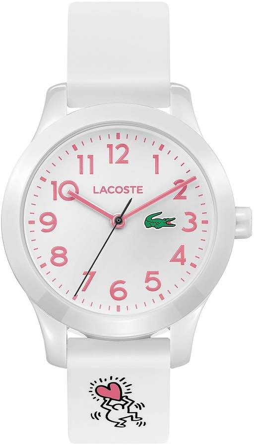 26ed2e4c11 Lacoste Kids Lacoste.12.12 Watch with White Silicone Keith Haring ...
