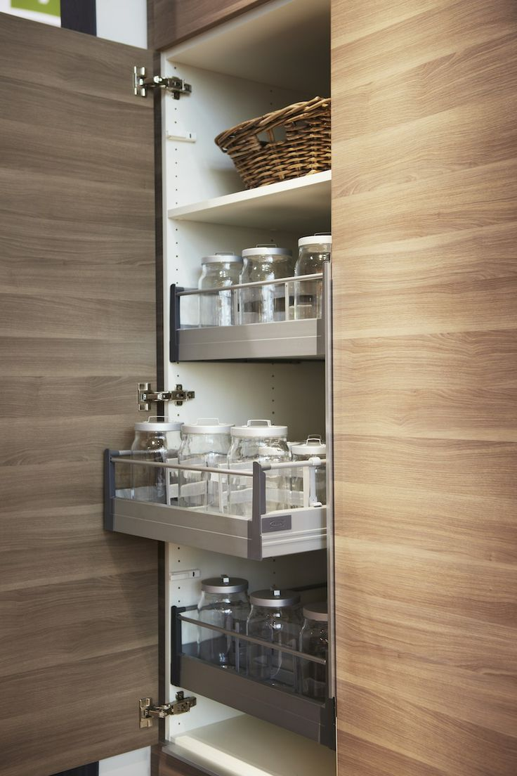Our Walnut Effect Light Grey SOFIELUND Kitchen Doors And RATIONELL Interior Fittings Are The Perfect Storage