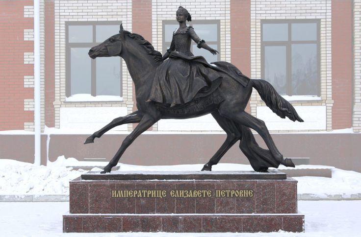Видео: Памятник молодой императрице Елизавете в Йошкар-Оле