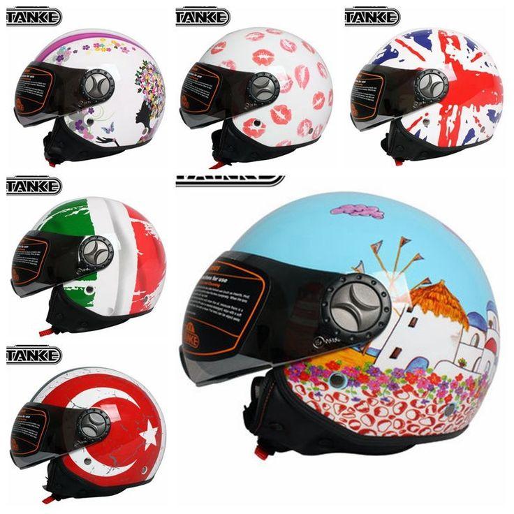 78.95$  Buy here - http://alimtd.worldwells.pw/go.php?t=32626015044 - 2016 Brand Tankedracing retro men women motorcycle helmets vintage casque moto cross four season german helmets 78.95$