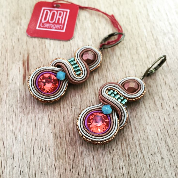 Harper small but strong impression earrings #doricsengeri #smallearrings #pink #Metallics #Design #jewelry #accessories
