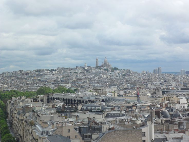 Vista de París desde el Arco de Triunfo