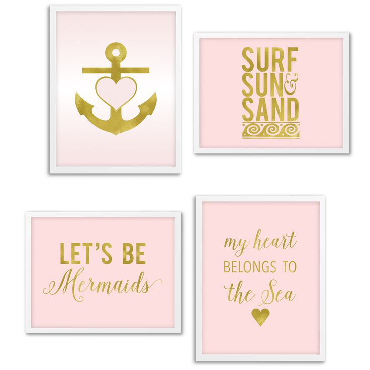 Free Printable Nautical Wall Art from @chicfetti