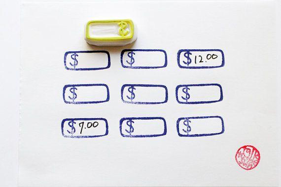 tampon d'étiquette de prix. timbre en caoutchouc par talktothesun                                                                                                                                                                                 Plus