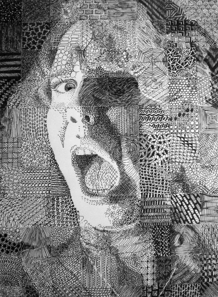 55 Best Chuck Close Grid Drawings Images On Pinterest