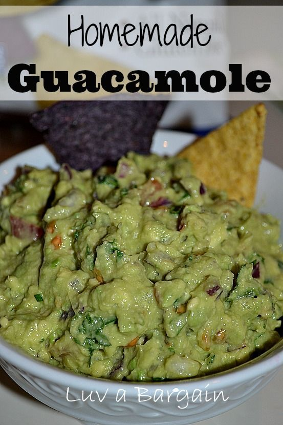 Homemade Guacamole - All Natural Ingredients