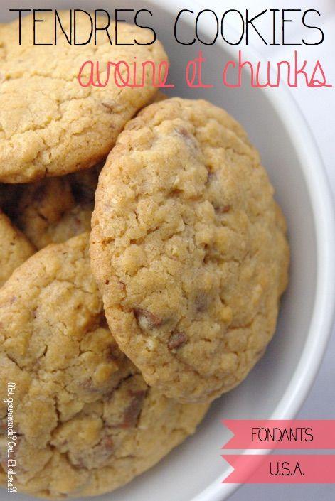 Un cookie encore tiède (parce que je ne sais pas attendre…), moelleux, avec des chunks (vous savez, ces grosses pépites de chocolat…) c'est tout simplement un pur bonheur… E…